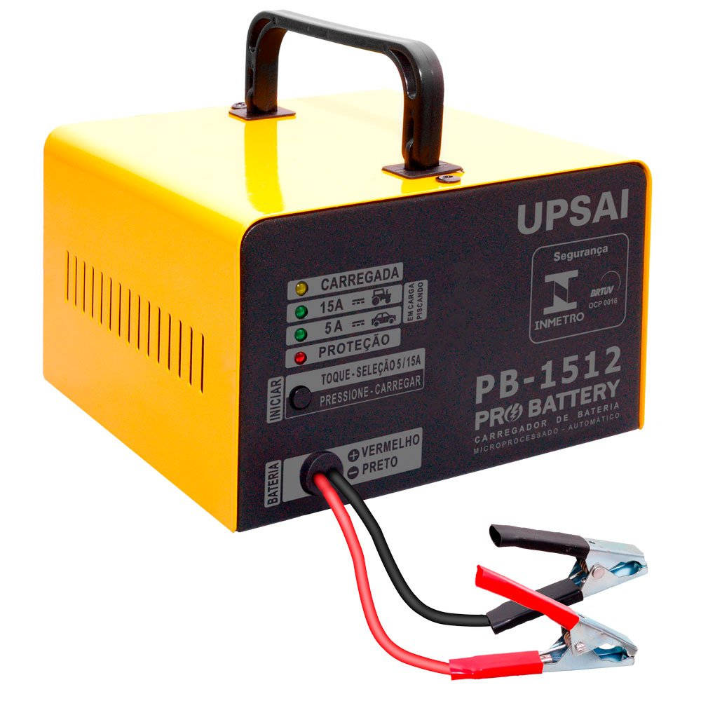Carregador de Bateria 15A 12V Pró Battery