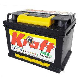 Bateria Kraft 60 Amperes 12 Volts. Polo Positivo Lado Direito
