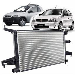 Radiador Importado Chevrolet Corsa 1.0, 1.4, 1.8 02 até 2012 sem Ar Corsa 1.0 02 até 2012 com Ar Montana 1.4 e 1.8 2003 até 2010 sem Ar
