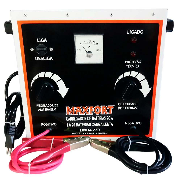 Carregador de Baterias Lento 06/ 240V 20Ah 220V
