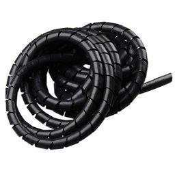 Tubo Espiral Preto - Organizador de Fios de 5 Metros com Diâmetro de 3/4 Pol.