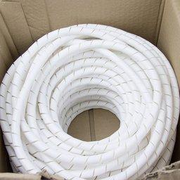 Tubo Espiral Rolo Branco 1/2 Pol. - Organizador de Fios de 50 Metros