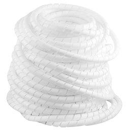 Tubo Espiral Rolo Branco de 1 Pol. - Organizador de Fios de 50 Metros