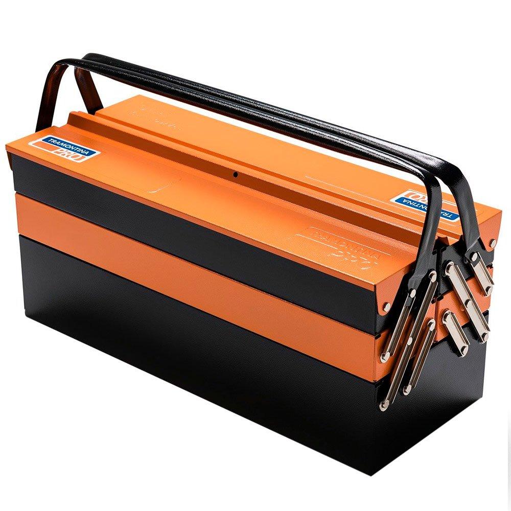 Caixa sanfonada laranja 5 gavetas