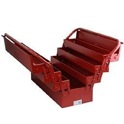Caixa de Ferramentas Sanfonada 7 Gavetas Vermelha