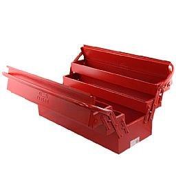 Caixa de Ferramentas Sanfonada 5 Gavetas Vermelha