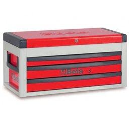 Caixa para Ferramentas 3 Gavetas Vermelha