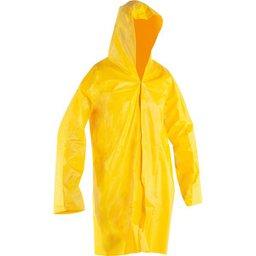 Capa de PVC, com forro, tamanho G, amarela,