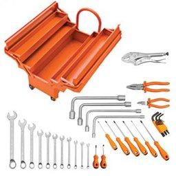 Kit caixa de ferramentas Sanfonada com Rodas e Puxador 35pç