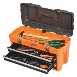 Caixa de ferramentas plástica c/ 03 gavetas e 31 ferramentas