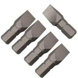 Jogo de Bits Fenda Simples com 5 Peças Encaixe de 1/4 Pol. - 8 mm