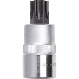 Chave Soquete Hexalobular T55 com Encaixe de 1/2 Pol.