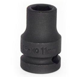 Soquete de Impacto Sextavado de 11mm com Encaixe de 1/2 Pol.