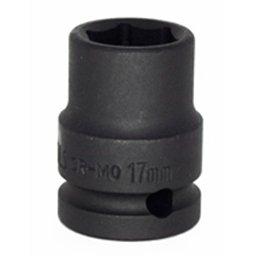 Soquete de Impacto Sextavado de 17mm com Encaixe de 1/2 Pol.