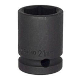 Soquete de Impacto Sextavado Curto 21mm com Encaixe de 1/2 Pol.
