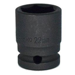 Soquete de Impacto Sextavado de 22mm com Encaixe de 1/2 Pol.