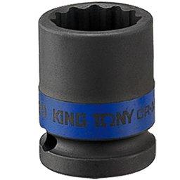 Soquete de Impacto Estriado de 14mm com Encaixe de 1/2 Pol.