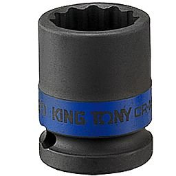Soquete de Impacto Estriado de 15mm com Encaixe de 1/2 Pol.