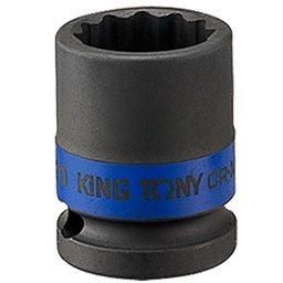Soquete de Impacto Estriado de 21mm com Encaixe de 1/2 Pol.