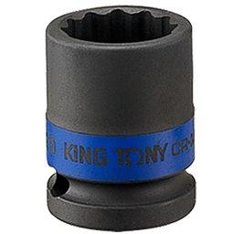 Soquete de Impacto Estriado de 22mm com Encaixe de 1/2 Pol.