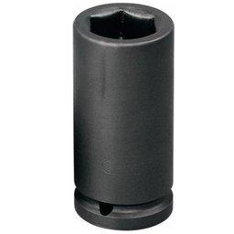 Soquete de Impacto Sextavado Longo de 21mm com Encaixe de 1/2 Pol.