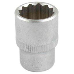 Soquete Estriado de 12mm com Encaixe de 1/2 Pol.