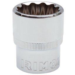 Soquete Estriado 16mm com Encaixe de 1/2 Pol.