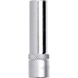 Soquete Sextavado Longo de 12mm com Encaixe de 1/2 Pol.