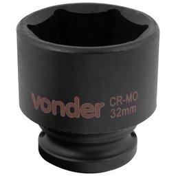 Soquete Sextavado de Impacto Encaixe 1/2 Pol. 32 mm Aço Cromo Molibdênio