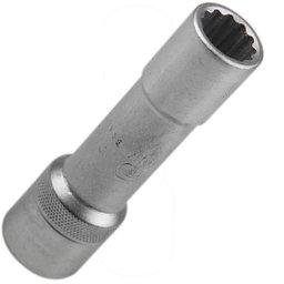 Soquete Estriado Longo 13 mm com Encaixe de 1/2 Pol.