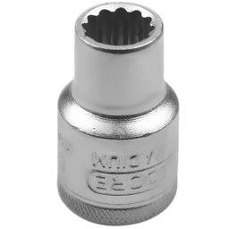 Soquete Estriado Curto com Encaixe de 11mm de 1/2 Pol.