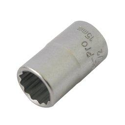 Soquete Estriado com Encaixe de 1/2 pol. 15 mm