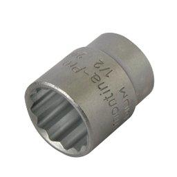 Soquete Estriado com Encaixe de 1/2 pol. 24 mm