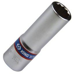 Soquete Estriado Longo de 16 mm com Encaixe de 1/2 Pol.