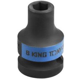 Soquete de Impacto Sextavado Curto de 1/2 Pol. - 8 mm