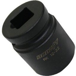 Soquete de Impacto 1/2 pol. de 22 mm