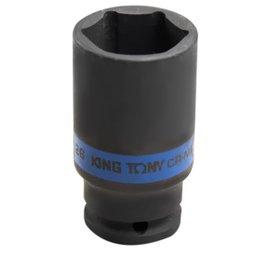 Soquete de Impacto Sextavado Longo de 26 mm com Encaixe de 1/2 Pol.