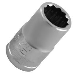 Soquete Estriado Cromado com Encaixe de 1/2 Pol. - 14mm