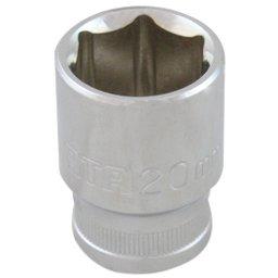 Soquete Sextavado Cromado - 1/2 Pol. 20mm