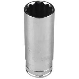 Soquete Estriado Longo com Encaixe de 1/2 Pol. de 22 mm