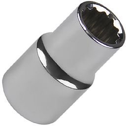 Soquete Estriado 12 mm com Encaixe de 1/2 Pol.