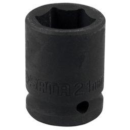Soquete de Impacto Sextavado de 21mm com Encaixe de 1/2 Pol.