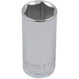 Soquete Sextavado Longo de 27mm com Encaixe de 1/2 Pol.
