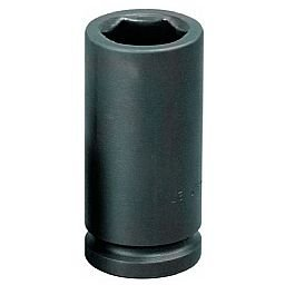 Soquete de Impacto Sextavado Longo de 17mm com Encaixe de 3/4 Pol.