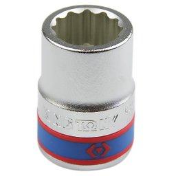 Soquete Estriado com Encaixe 3/4 Pol 22 mm