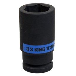 Soquete de Impacto Longo Sextavado de 33mm com Encaixe de 3/4 Pol.