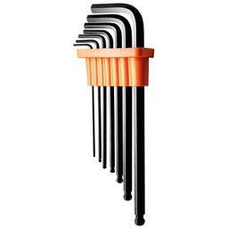 Jogo de Chaves Hexagonais Abauladas 1,5 a 6 mm com 7 Peças