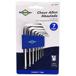 Jogo de Chave Allen Abaulada de 1,5 a 6mm com 7 Peças