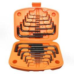 Jogo chave hexagonal milímetros e polegadas 22 peças - Tramontina
