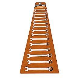 Jogo de Chaves Combinadas 8 a 24 mm com Catraca 15 Peças
